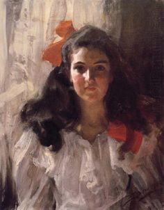 Anders Zorn (Swedish painter, sculptor and printmaker in etching) 1860 - 1920, Fräulein Marie Cohn, 1900, oil on canvas, 65.7 x 52 cm., private collection