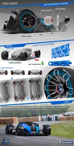 Michelin Challenge Design Bugatti Wimille on Behance Futuristic Cars, Futuristic Design, Bugatti Veyron, Maserati, Ferrari, Porsche, Audi, Futuristisches Design, Concept Motorcycles