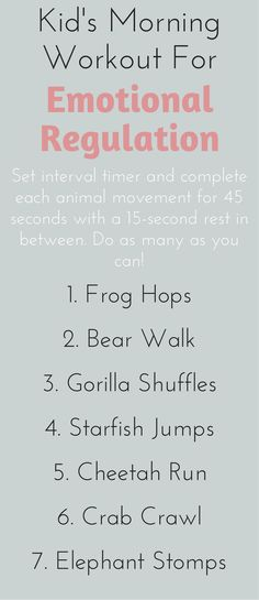 Improve your kid's emotional regulation in just 7 minutes a day with these animal-themed exercises #ParentsKids&Parenst