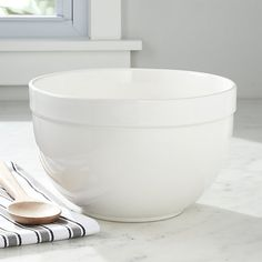 Large White Mixing Bowl | Crate and Barrel