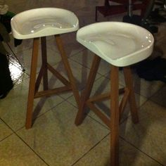 My new Established & Sons 'Heidi' barstools!!! Love them!!!