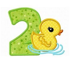 Duck Number 2 Applique - 3 Sizes! | What's New | Machine Embroidery Designs | SWAKembroidery.com Dollar Applique