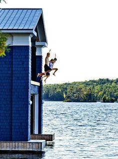 boat house jump!