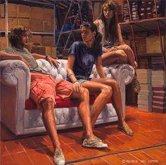 Eine großartige Serie von Gemälden des aus San Nicandro Garganico/Italien stammenden Malers Michele Del Campo, die sich mit dem Leben junger Menschen im urbanen Umfeld beschäftigt. Mir gefällt sein positiver, ausdrucksvoller Stil, die Menschen auf seinen Bildern strahlen eine angenehme Entspanntheit aus, als favorisierte Location für seine Vorlagen scheint Del Campo die Strandnähe gewählt zu haben. Sein sicherer Strich bringt... Weiterlesen