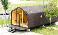 Conheça esse projeto holandês de casa sustentável de papelão que fica pronta em apensa 24 horas e tem durabilidade de 100 anos