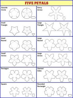 Interactive notebook templates free sampler pack 9 templates interactive notebook templates easy to cut petal pack 108 templates pronofoot35fo Gallery