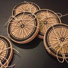 Bike Wheel Coasters (Set of 8)