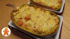 Лодочки из кабачка-спагетти с курицей и овощами