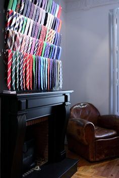 """Great idea to modify to a """"his"""" closet.  Just use curtain rods to hang his ties on so he can see them all instead of just hangers."""