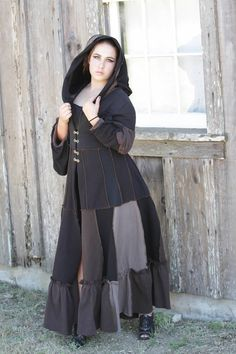 Victorian Full Length Hoodie Size Large in by ReincarnatedClothing