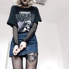 Grunge outfit inspirations — punkfashion-butnotreally: should we surround. Hipster Outfits, Grunge Outfits, Edgy Outfits, Mode Outfits, Girl Outfits, Fashion Outfits, Grunge Clothes, Grunge Dress, Kawaii Clothes