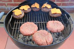 At this point you can put your second batch of raw patties over the hot side of the grill.
