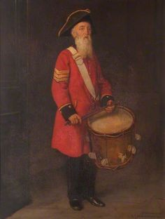 """""""Sergeant Drummer Henry Gribble"""", 1921, by George Percy Jacomb-Hood (British, 1857-1929)."""