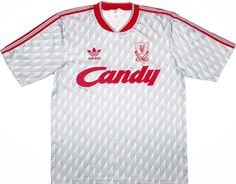 Retro Shirt Liverpool - Away Kit 1989 - Large All Sizes Available Classic Football Shirts, Vintage Football Shirts, Retro Shirts, Football Tournament, Football Kits, Adidas Football, Football Jerseys, Liverpool Badge, Liverpool Champions League