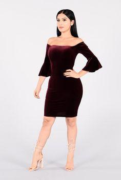 Talia Dress - Burgundy