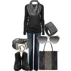 LOLO Moda: Fashionable women outfits 2013 With real black boots not mock black boots.