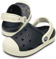Kids get all the comfort and simplicity of a Crocs clog with the look of vintage sneakers. Check out the rubber midsole band and rubber toe caps, giving kids great top-of-foot coverage. Croslite™ foam construction keeps them really light and delivers Crocs' signature bounce and cushion. Free shipping on qualifying orders.