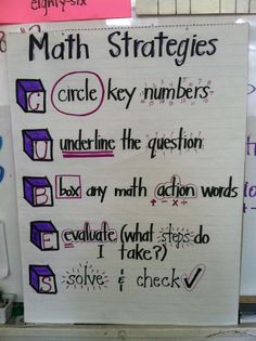 Timeouts and Tootsie Rolls: Test Prep strategies I like this one, because it doesn't emphasize the old key word strategy, which in today's standardized testing language might not always work Anchor Charts,Classro Math Strategies, Math Resources, Test Taking Strategies, Leadership Activities, Group Activities, Math Teacher, Teaching Math, Teaching Ideas, Maths 3e