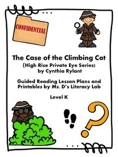 An engaging, easy to follow unit for one of Cynthia Rylant's mysteries for transitional readers. It is one of the books in the High Rise Private Eye Series. This unit includes an introduction to the book, guided reading plans, task cards for vocabulary words and discussion questions, graphic organizers for reading responses and more.It is a Guided Reading Level K--perfect for older students in grade 3 and ELL readers.Please ask any questions before buying this unit !Enjoy !WendyMs.