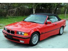 Bright Red 1996 BMW 3 Series 328i Convertible