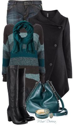 """Stripe jumper"" by madamedeveria on Polyvore"