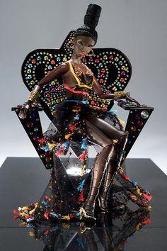 "waygay: "" Welcome, boo "" If Nicki Minaj & Iman procreated a barbie doll, this would be exactly it. Fashion Royalty Dolls, Fashion Dolls, African American Dolls, African Dolls, Back Home, Barbie World, Barbie Barbie, Diva Dolls, Beautiful Barbie Dolls"