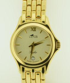 Lotus 18kt gold watch