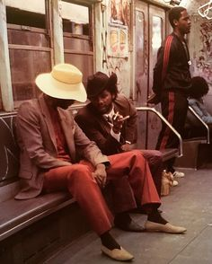 """""""From my New York Underground series. On the Uptown # 2 train / Franklin ave. Crown Heights, Brooklyn 1980."""" 