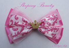 sleeping beauty hair bow by abowtiqueshop on Etsy, $6.50