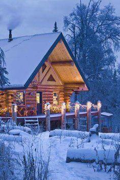 Love the winter cabin
