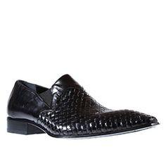 50a410f96de Jo Ghost Mens Shoes Inglese Nero x Intreccio Black Leather Loafers (JG2204)  Black Leather