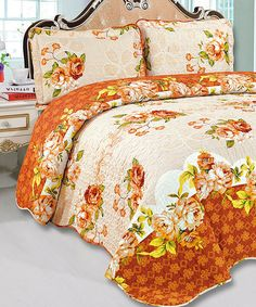 Glory Home Designs Gold Quilt Set