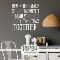 Memories Are Made In Every Moment vinyl lettering wall decal subway art block design