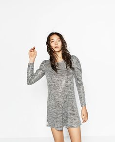 Image 2 of KNIT AND SEQUIN DRESS from Zara