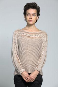 Cable knit batwing sweater by duende74 on Etsy