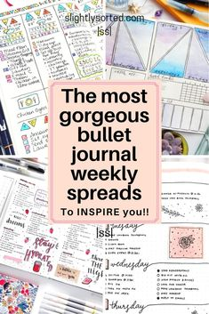 There's lots of inspiration for your bullet journal weekly spreads here! Some lovely ideas from minimalistic bullet journals through to arty and intricate. I love these ideas and will definitely be trying out a few of them for my own bullet journal weekly