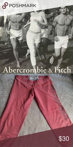 A&F Peach Ankle Sweats ✨ New without tags. Ankle or Capri style. Approximately 26 inches long. Abercrombie & Fitch Pants