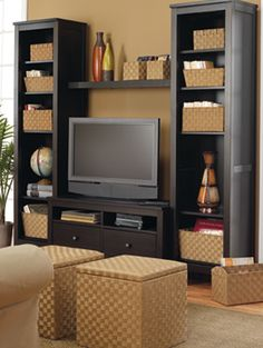 I wish my tv area was this organized!