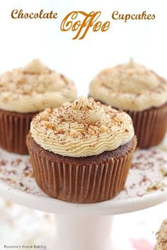 Moist, sweet and irresistible chocolate coffee cupcakes made with cold brewed coffee and frosted with coffee flavored buttercream. Now you can drink your coffee and eat it too!