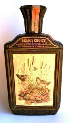 Bar Bottle Man Cave Jim Beam Woodcock Kentucky Bourbon Whiskey 1974 (H) #JimBeam