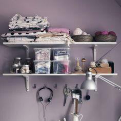 Use the EKBY STÖDIS shelf brackets to organize your hobbies within reach!