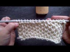 Point tricot fantaisie - joli point souple, léger, et moelleux : Tuto pour…