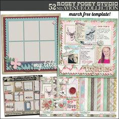 New Free Template for March on Studio Rosey Posey's blog! {03.23.12}