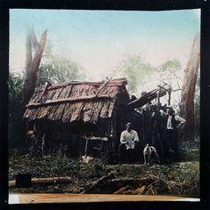 Settlers' Hut in Gippsland Victoria Australia 1800's