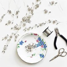My Sydney hairvine on the making table - this one's going to be heading to my lovely Warwickshire stockist @cocoandkate x