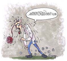 Zombie having trouble with his own brain. #Zombie