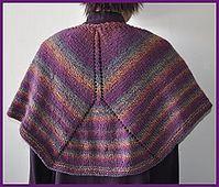 Mendocino shaped shawl