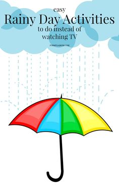 Easy Rainy Day Activities to Do Instead of Watching TV #rainyday #spring