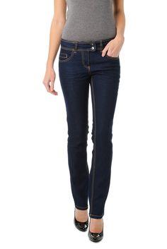 Jeans droit brut ou noir, 5 poches