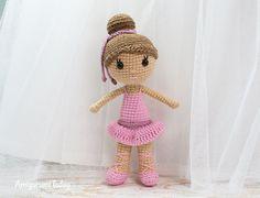 Ballerina doll crochet pattern by Amigurumi Today